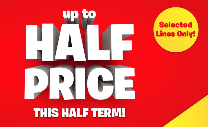 HALF PRICE BARGAINS